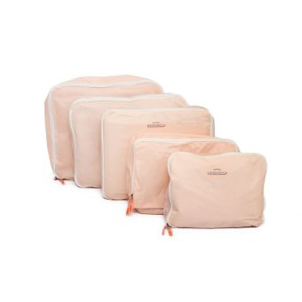 5-in-1 Waterproof Packing Cubes Mesh Travel Pouch (Peach)