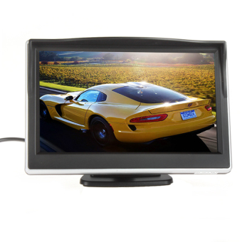 5 Inch TFT-LCD Digital Car Rear View Monitor LCD Display for VCD / DVD / GPS / Camera with Front Diaphragm - 2