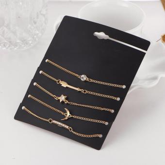 5 Pieces Bracelet Set Moon Crescent Star Arrow Crystal Bracelet Set Gift Idea Friendship Bracelet Set - 5