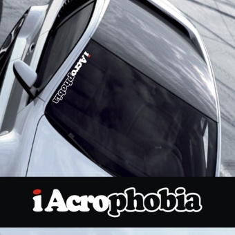 50cm*8cm Iacrophobia Cool Personality Reflective Car Sticker/Decalfor Car and Motorcycle - intl