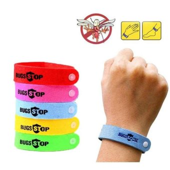 50pcs Anti Mosquito Bug Repellent Wrist Band Bracelet Insect Nets Bug Lock Nice - intl