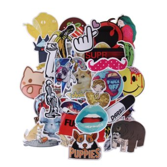 50pcs Waterproof Funny Doodle Sticker for Luggage Suitcase BikeLaptop Skateboard - intl