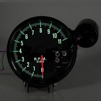 "5"" ADJUSTABLE 7-COLOR LED TACHOMETER GAUGE 11K RPM TACH METER + SHIFT LIGHT 12V - intl Price Philippines"