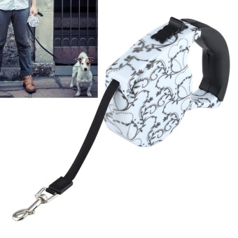 5m Creeper Pattern Flexible Retractable Dog / Cat Leash For Daily Walking - intl