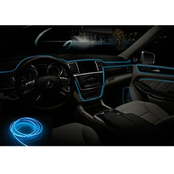 5m El Auto Interior Decorative Refit Atmosphere Car Cold LED LightsStrip with Driver ( Blue) - intl