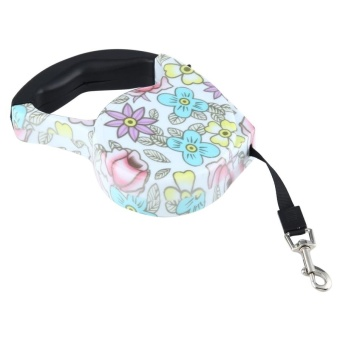 5m Peony Pattern Flexible Retractable Dog / Cat Leash For Daily Walking - intl - 4