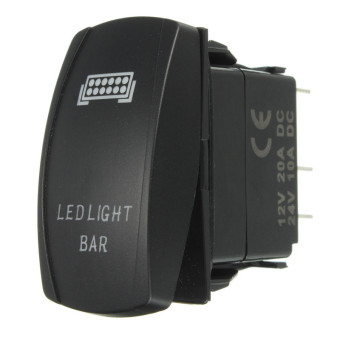 5P ARB Waterproof 12V 20A Bar Rocker Toggle Switch Blue LED Light Car Boat (LED bar Spot light) Price Philippines