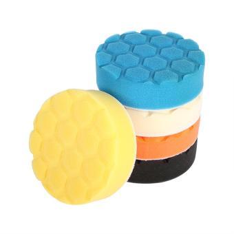 5pcs Hex-Logic Buffing Sponge Polishing Pad Hand Tool Kit For Car Polisher Wax 4 Inch - intl - 2