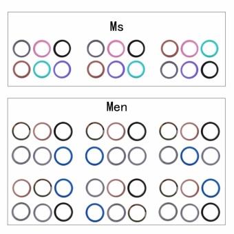 6 Pcs/Set Rubber Silicone Wedding Ring Band Sport Outdoor Flexible Men Women Gift - intl - 4