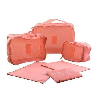 6 Pcs/Set Square Travel Luggage Storage Bags Clothes Organizer Pouch Case - intl - 5