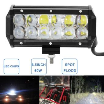 60W 6.5 Inch Car LED Work Light Bar Offroad Driving Fog Lamp (Floodlight) - intl