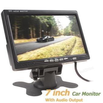 7 Inch Color TFT LCD Screen Car Rear View Monitor with Audio Output- intl
