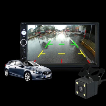 7 Inch HD Bluetooth Touch Screen Car Stereo 2 DIN MP5 with Reversing Camera - intl