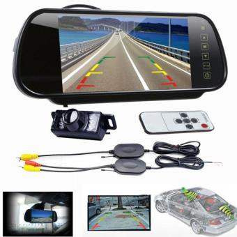 7 LCD Mirror Monitor +Wireless Car Reverse Rear View Backup CameraNight Vision - intl