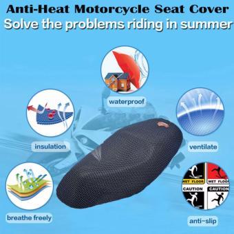 74 x 51 cm (Medium) Anti-Slip and Anti-Heat Breathable Motorcycle Seat Cover (Black) - 2