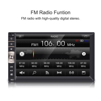7inch 2 Din HD Bluetooth Touch Screen Car Stereo FM Radio MP5 Player - intl - 3