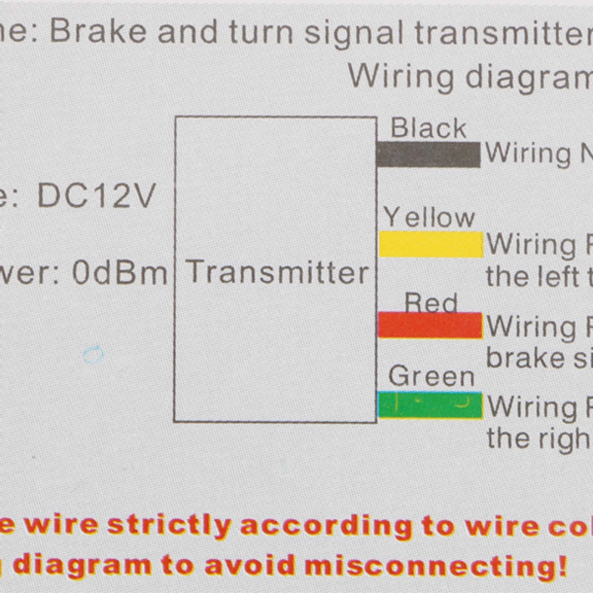 Philippines 8 Led 24g Wireless Motorcycle Accessories Helmet Lamp Blinker Wiring Diagram Brake Andturn Signal Light Intl