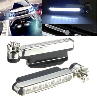 8 LEDs Wind Powered Automobile DRL Daytime Running Light Fog Auto Head Lamp 12V
