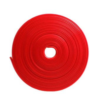 8m 26ft Length Car Wheel Hub Edge Ring Rim Protectors Tape Self Adhesive Universal Style Tyre Tire Guard Accessory Red - intl