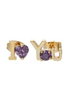 8YEARS K82629 Stud Earrings (Purple)