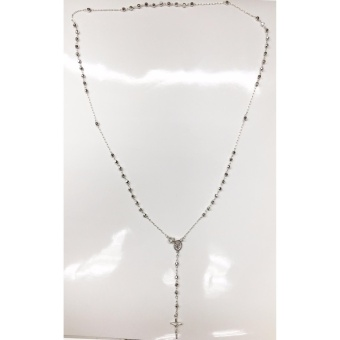 92.5 Sterling Silver Rosary Necklace Pure Silver