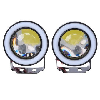 A Pair 2.5 INCH Car Angel Eyes Fog Light COB Auto Halo RGB Led Lamp - intl