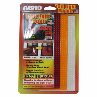 "Abro Tail Light Repair Red/Amber/Clear 3 3/4"" x 7 3/8"" (3pcs/cd) Price Philippines"