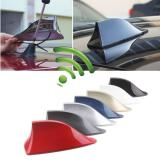 ABS Plastic Car Roof Style Shark Fin AM/FM Antenna Radio Signal Function Aerials For BMW and Most Cars (Black)