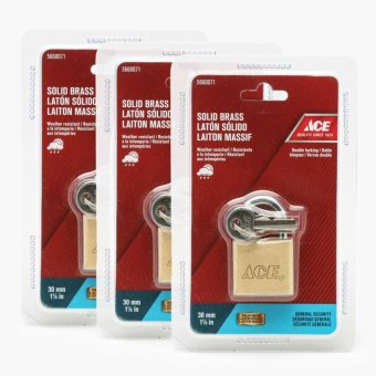 Ace Hardware Red TSA Luggage Lock 28mm (Set of 2)