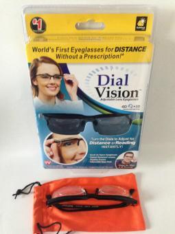 Adjustable Eye Glasses Vision Reader Glasses Including Case (Size: One Size) - intl - 2