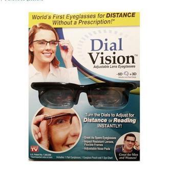 Adjustable Eye Glasses Vision Reader Glasses Including Case (Size: One Size) - intl - 5