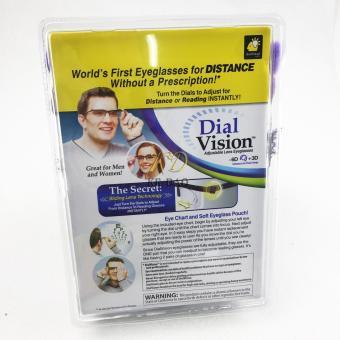 Adjustable Eye Glasses Vision Reader Glasses Including Case (Size: One Size) - intl - 4