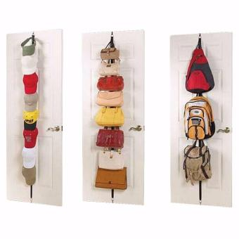 Adjustable Over Door Straps Hanger Bag Clothes Coat Rack Organizer 16 Hooks