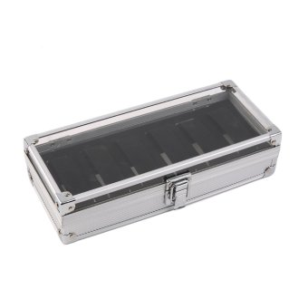 Amazing Allwin 6 Grid Slots Jewelry Watches Display Storage Box Casealuminium Watch  Box Silver 1460584943 4324834 C5fb0c37934ee01718500918f2090f63