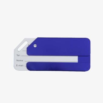Aluminum Alloy Luggage Tag Baggage Tag Handbag Tag Blue (Intl)