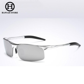 Aluminum Magnesium Alloy Polarized Sunglass For Men Outdoor Sport Driving Male Sun Glasses Rectangle Rimless Shades (Silver Mercury) Price Philippines
