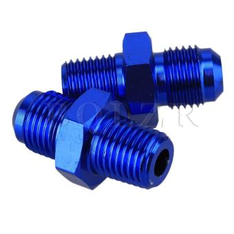 AN6-1/4-Inch NPT Straight Male Adapter Fittings Set of 2 (Blue) - picture 2