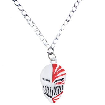 Anime Bleach Hallow Ichigo Fashionable Pendant Necklace (Silver) Price Philippines