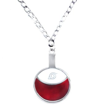 Anime Naruto Shippuden Uchiha Clan Fashionable Pendant Necklace (Silver/ Red)