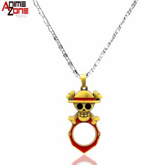 ANIME ZONE Straw Hat Pirate One Piece Fashionable Pendant Necklace with Bottle Opener (Silver) Price Philippines