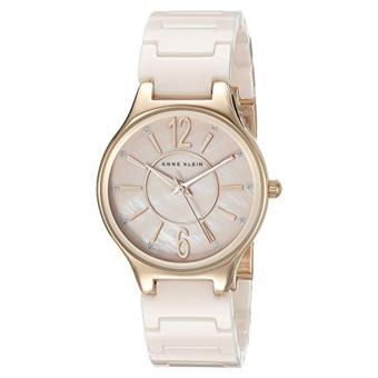Anne Klein AK/2182RGLP Glitter Accented Rose Gold-Tone and LightPink Ceramic Bracelet Watch Price Philippines