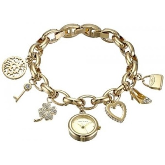 Anne Klein Womens 10-7604CHRM Swarovski Crystal Gold-Tone CharmBracelet Watch - intl Price Philippines
