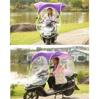 APEX 3in1 Sun / Rain / Wind Scooter Sun Visor and Roof Shade (PURPLE)