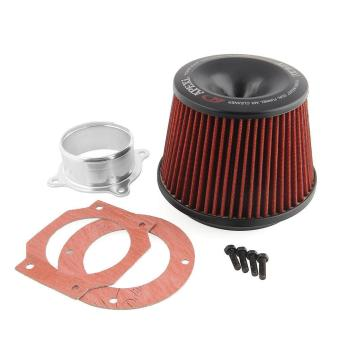 Apexi Universal Car Power Intake Air Filter 75mm With Dual Funnel Adapter - intl