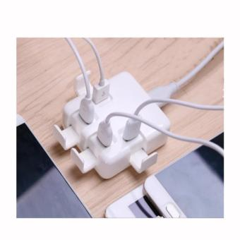 APPO LAMYOO C47 4 USB Quick Charger Universal USB Charger (White) - 5