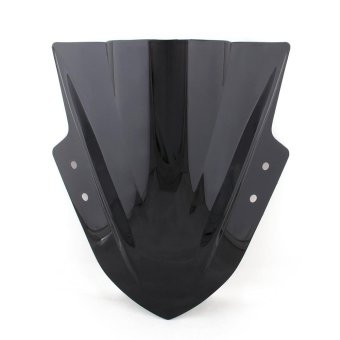 Areyourshop Windshield WindScreen Double Bubble For Kawasaki Ninja 300 EX300 2013-2015 Black - intl