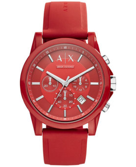 Armani Exchange Active Men's Red Silicone Strap Watch AX1328