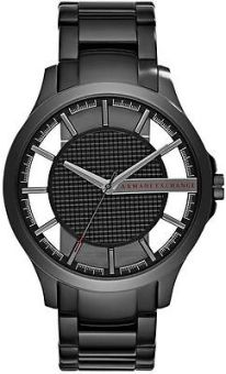 Armani Exchange Smart Men's Black Stainless Steel Strap Watch AX2189
