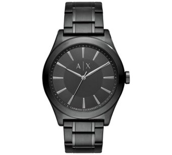 Armani Exchange Smart Men's Black Stainless Steel Strap Watch AX2322