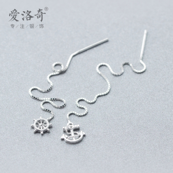 A'ROCH Korean-style brushed Female Anchor hanging earrings silver hanging earrings